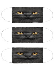 Black Cat Cloth Face Mask - 3 Pack front