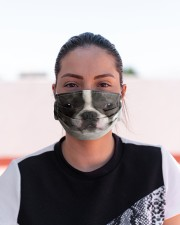 Boston Terriers  Cloth face mask aos-face-mask-lifestyle-03