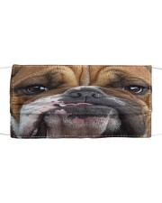 Bulldog 3D Cloth face mask front