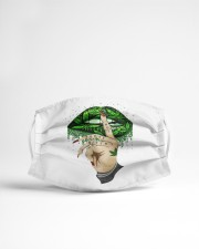 Weed lips Not today bitch  Cloth face mask aos-face-mask-lifestyle-22