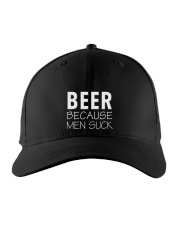 Beer Because Men Suck  Embroidered Hat front