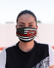 Thin Red Line Flag Firefighters face mask Cloth face mask aos-face-mask-lifestyle-03