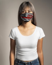 Thin Red Line Flag Firefighters face mask Cloth face mask aos-face-mask-lifestyle-15