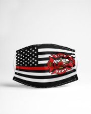 Thin Red Line Flag Firefighters face mask Cloth face mask aos-face-mask-lifestyle-22