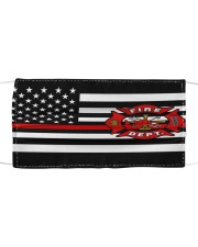 Thin Red Line Flag Firefighters face mask Cloth face mask front