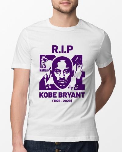 Kobe Bryant 24 Rip T Shirts