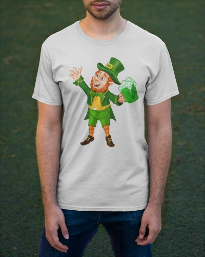 St patricks Day Green Beer Leprechaun T Shirts