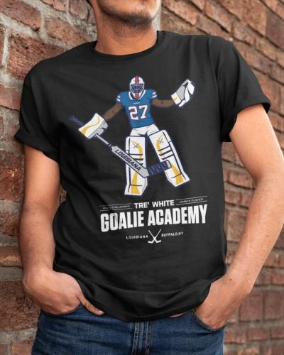 Tre White Goalie Academy T Shirt Jersey