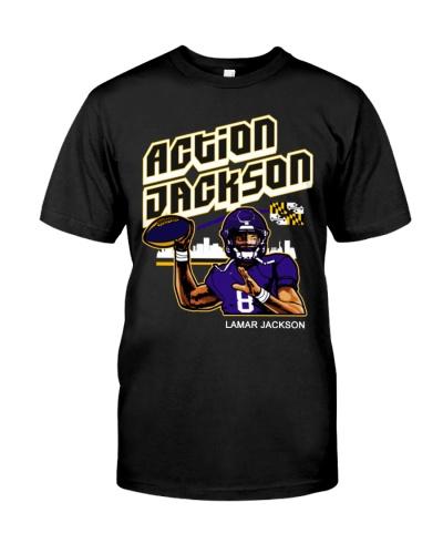 Lamar Jacksons Action Jackson Apparel Shirt