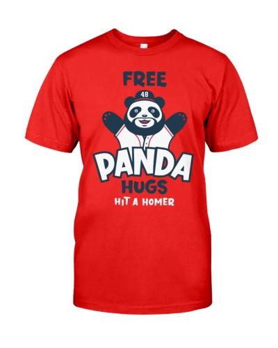 Free Panda Hugs Braves T Shirt
