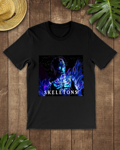 Travis Scott Skeletons Merch T Shirt