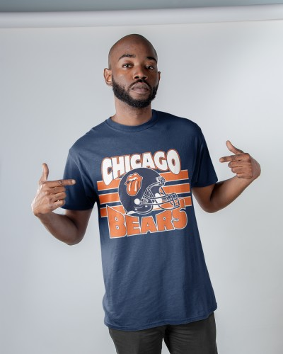THE ROLLING STONES CHICAGO BEARS SHIRT Jesey