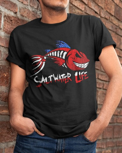 Saltwater Life Fisherman Fishing T Shirt