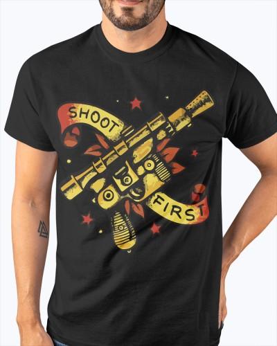 Blaster Shoot First Shirt