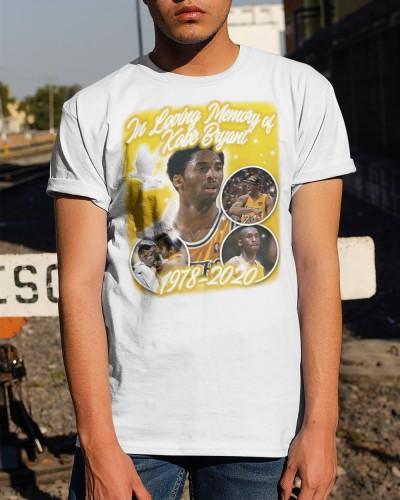 In Loving Memory Kobe White Shirt