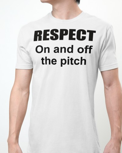 respect on and off the pitch shirt