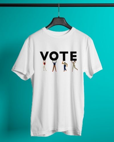 Vote Graphic Tomboy T Shirts