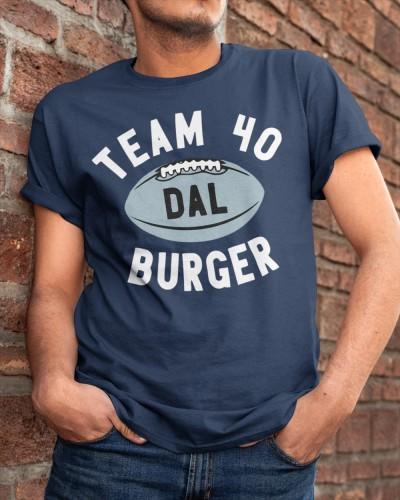 team 40 burger t shirt