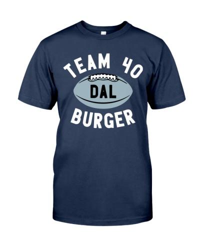 team 40 burger shirt