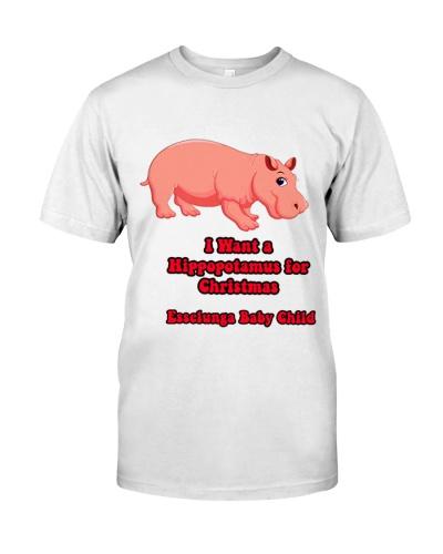 i want a hippopotamus for christmas shirt Funny