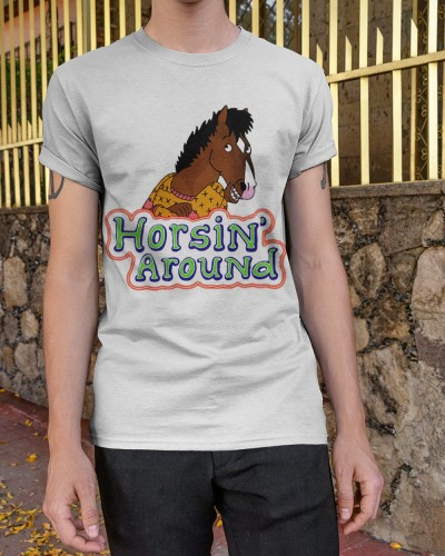 bojack horseman horsin around shirts
