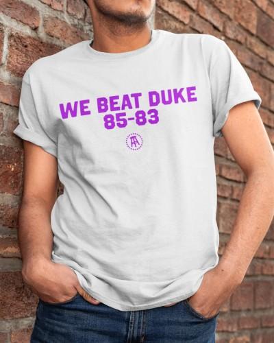 We Beat Duke 85-83 Shirt Jersey