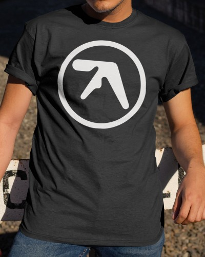 aphex twin logo black shirt