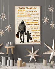To My Grandson Never Feel That You Are Alone 11x17 Poster lifestyle-holiday-poster-1