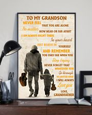 To My Grandson Never Feel That You Are Alone 11x17 Poster lifestyle-poster-2