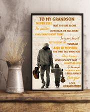 To My Grandson Never Feel That You Are Alone 11x17 Poster lifestyle-poster-3