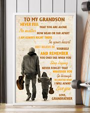 To My Grandson Never Feel That You Are Alone 11x17 Poster lifestyle-poster-4