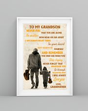 To My Grandson Never Feel That You Are Alone 11x17 Poster lifestyle-poster-5