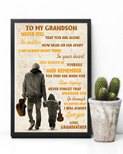 To My Grandson Never Feel That You Are Alone 11x17 Poster lifestyle-poster-8
