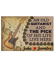 An Old Guitarist And The Pick 17x11 Poster front