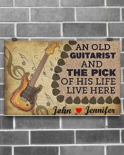 An Old Guitarist And The Pick 17x11 Poster poster-landscape-17x11-lifestyle-18