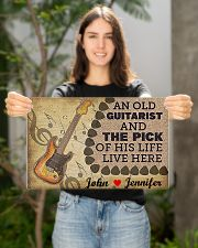 An Old Guitarist And The Pick 17x11 Poster poster-landscape-17x11-lifestyle-19