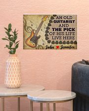 An Old Guitarist And The Pick 17x11 Poster poster-landscape-17x11-lifestyle-21