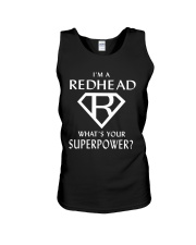 I AM A REDHEAD - WHAT'S YOUR SUPERPOWER Unisex Tank thumbnail