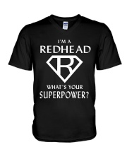 I AM A REDHEAD - WHAT'S YOUR SUPERPOWER V-Neck T-Shirt thumbnail