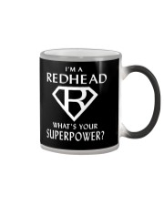 I AM A REDHEAD - WHAT'S YOUR SUPERPOWER Color Changing Mug thumbnail