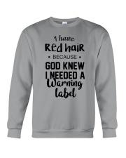 Red Hair- Warning Label Crewneck Sweatshirt thumbnail