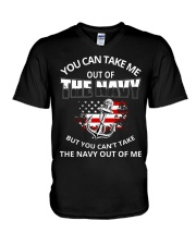 You-can-take-me-out-of-the-navy V-Neck T-Shirt thumbnail