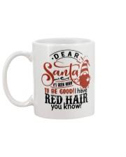 Dear santa it's been hard to be good mug Mug back