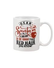 Dear santa it's been hard to be good mug Mug front