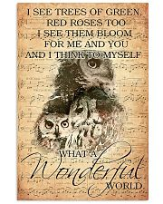 Owl I see trees of green red roses too 11x17 Poster front