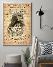 Owl I see trees of green red roses too 11x17 Poster lifestyle-poster-1