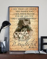 Owl I see trees of green red roses too 11x17 Poster lifestyle-poster-2