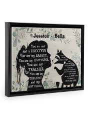 You are not just a Raccoon poster Floating Framed Canvas Prints Black tile