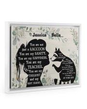 You are not just a Raccoon poster Floating Framed Canvas Prints White tile