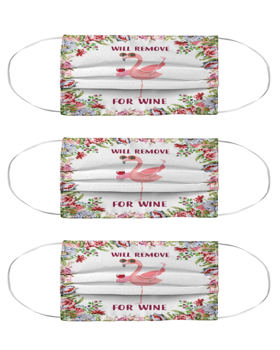 Flamingo will remove for wine mask Cloth Face Mask - 3 Pack